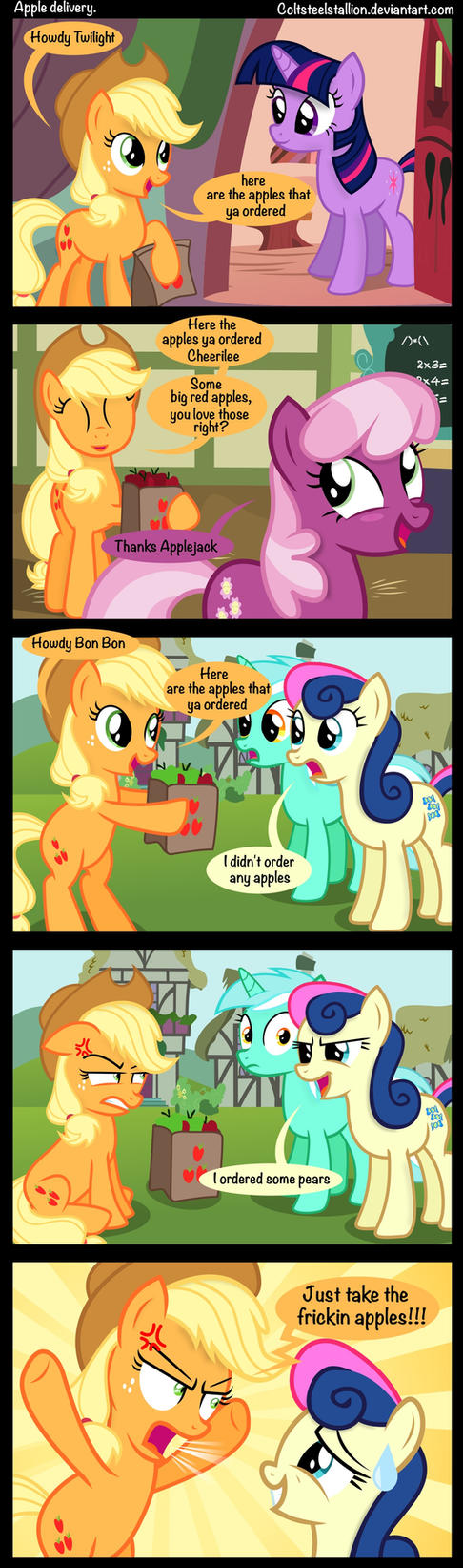 Apple delivery. by Coltsteelstallion