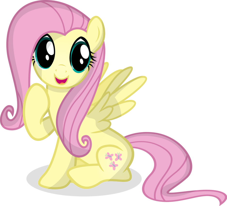 Fluttershy happeh by Coltsteelstallion