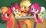 Pinkie pie and the apple family. by Coltsteelstallion