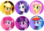 Mane six button designs
