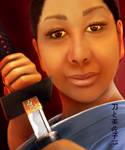 Misako with her sword