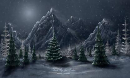 Winter scene by JPMNeg