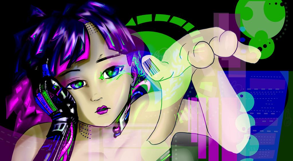 cyborg Minaiya by Hitoritsuki