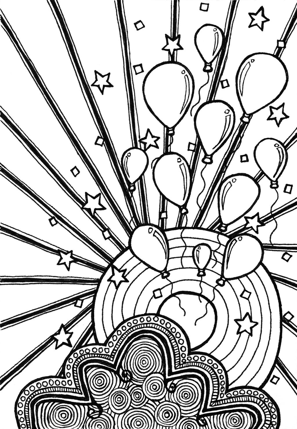 Celebration Coloring Book Page