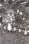 Mushroom Coloring Book Page