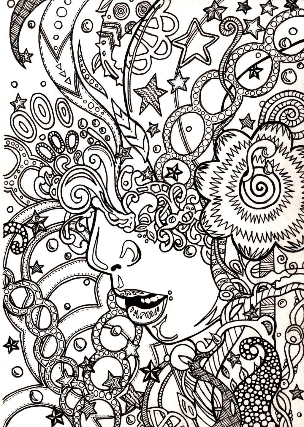 Trippy Coloring book page by ambercamiart on DeviantArt