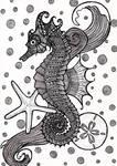 Zentange Seahorse