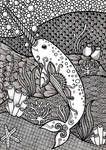 Zentangle Narwhal