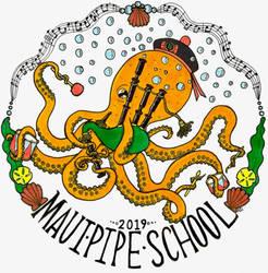 Maui Pipe School Logo by ambercamiart