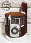Christmas Cottage Tealight house by Jade-Eye-Creations