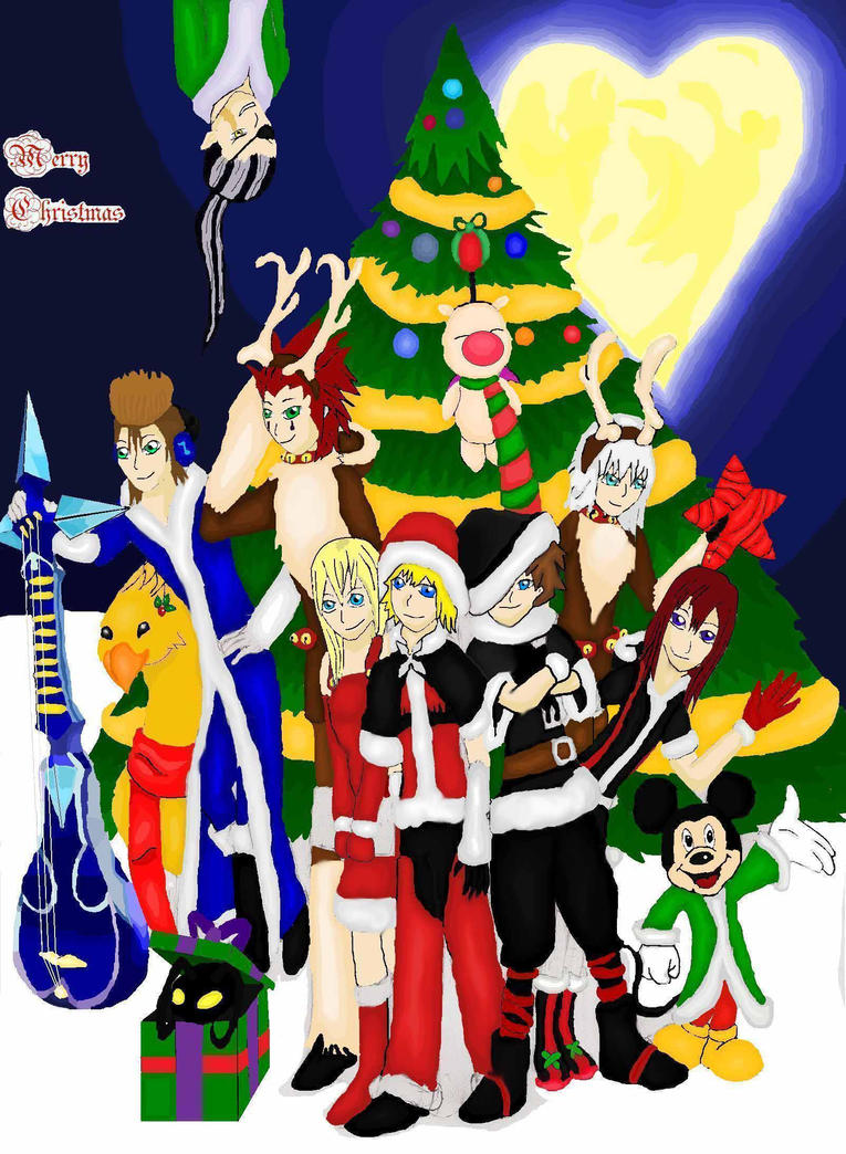 Kingdom Hearts Christmas Wallpaper - Фото база