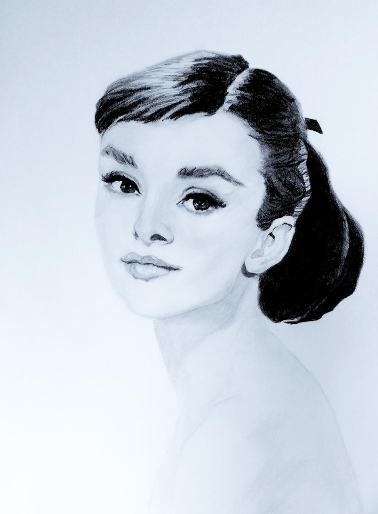 Audrey Hepburn Pencil by MercurialPixies