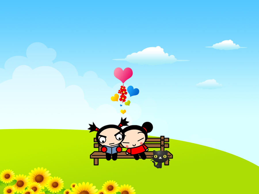 Pucca and Garu by pulsarix on DeviantArt