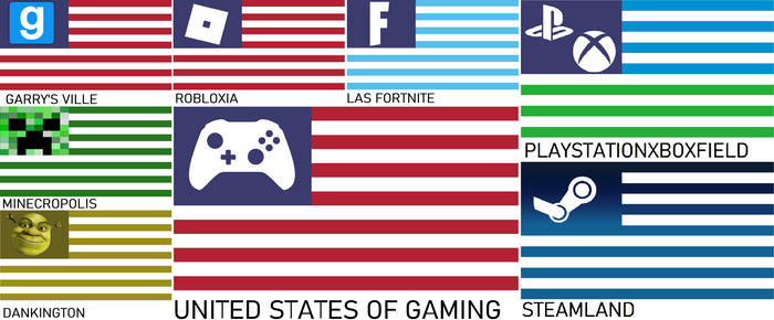 United States of Gaming Cities Flags