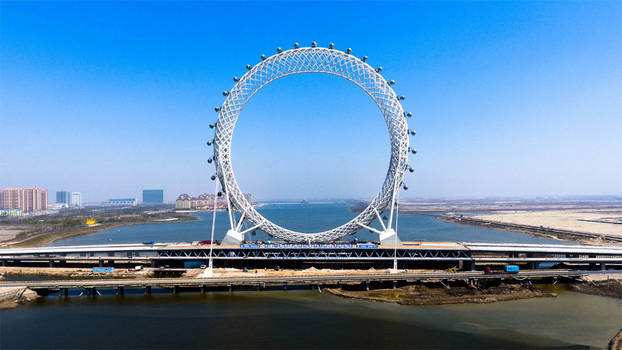 145m Spokeless/Shaftless Ferris Wheel