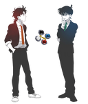 Kudo Shinichi and Kindaichi Hajime render by Yumerealm