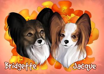 Pet Portraits: Bridgette and Jacque by HeSerpenty
