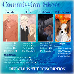 Commission Price Sheet by HeSerpenty