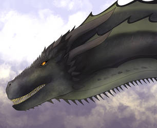 GoT: Rhaegal by HeSerpenty