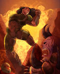 Commission: Epic Doomslayer by HeSerpenty