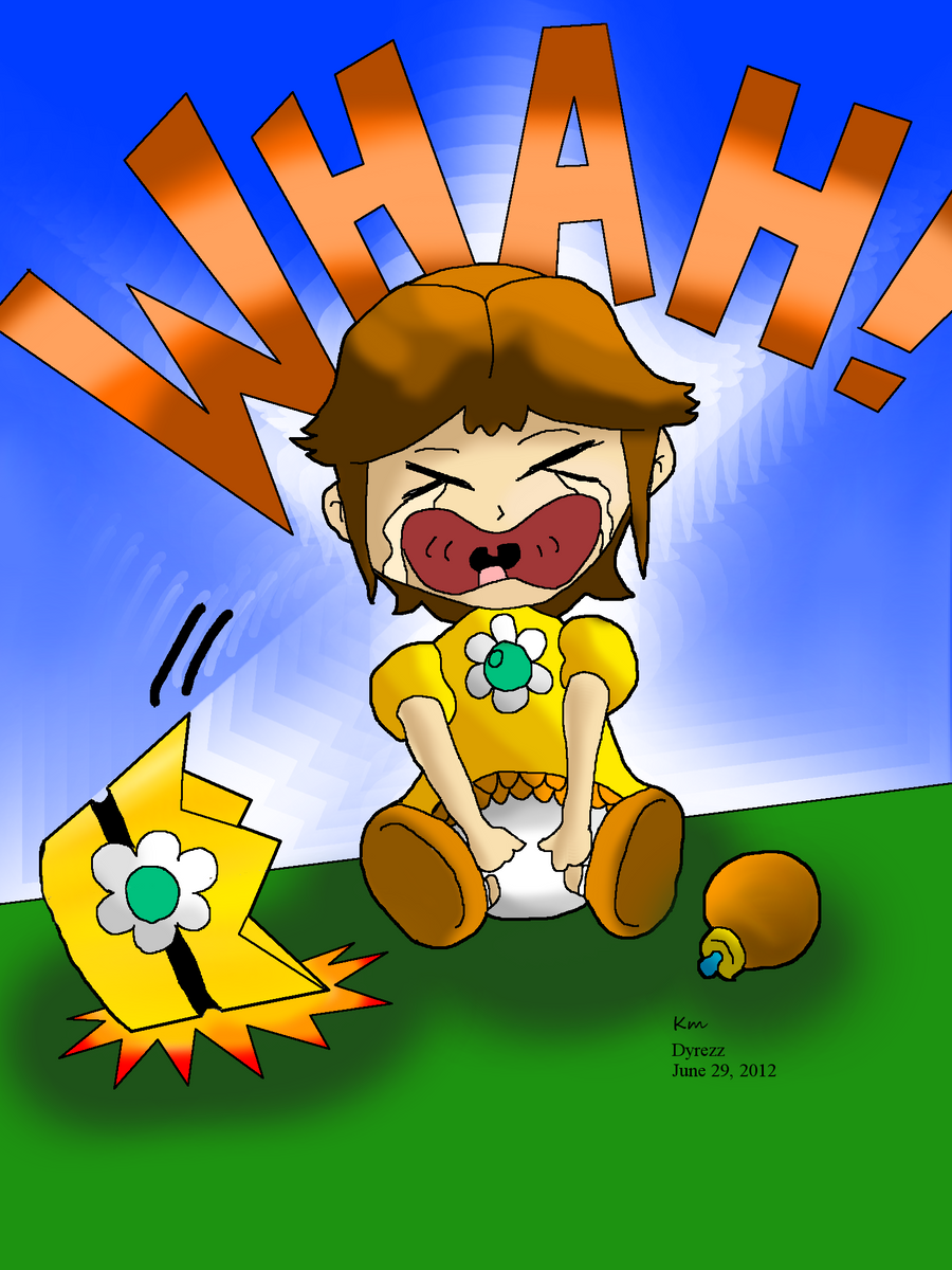 baby daisy crying colored by dyrezz on deviantart