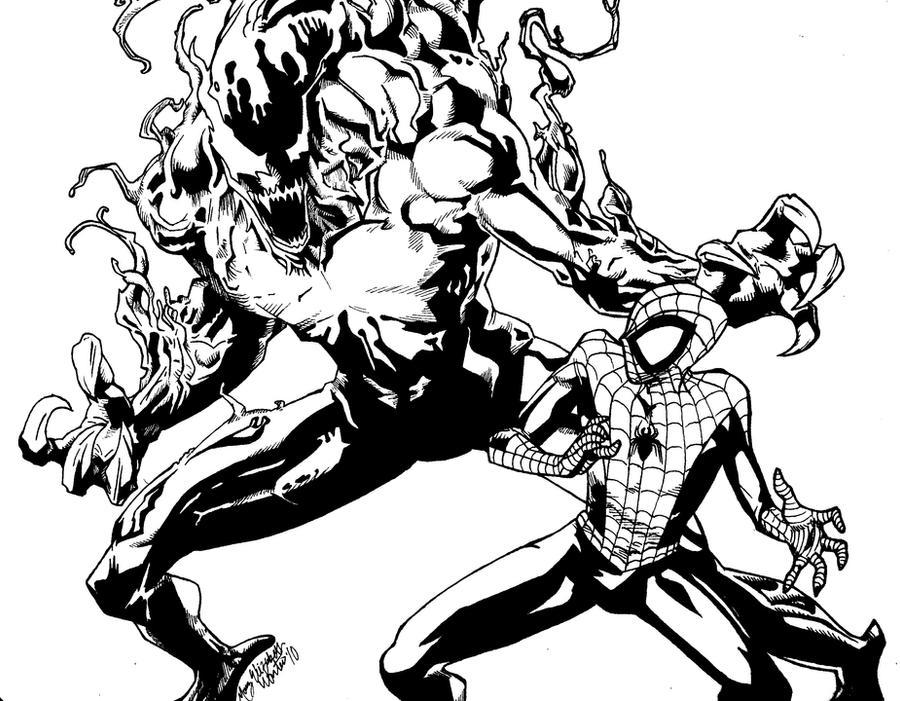 Spiderman vs carnage drawings - photo#30
