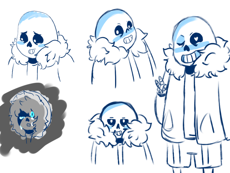 Sans Sketches by CakeMonster44