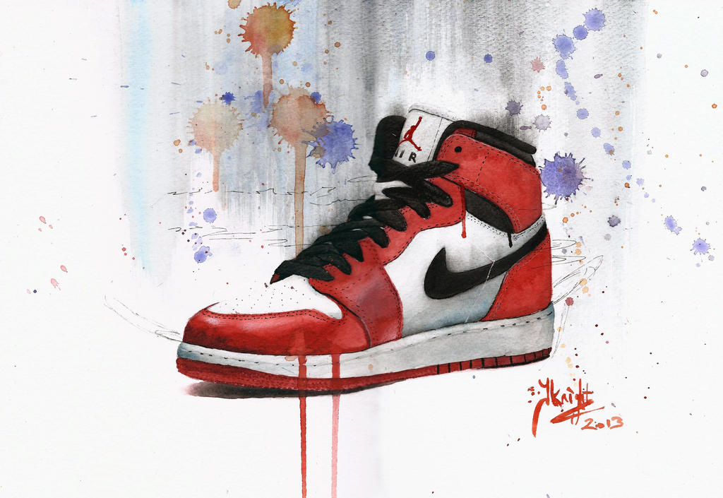Air Jordan watercolour study by JKNIGHTART