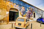 Street art in the old town of Lagos