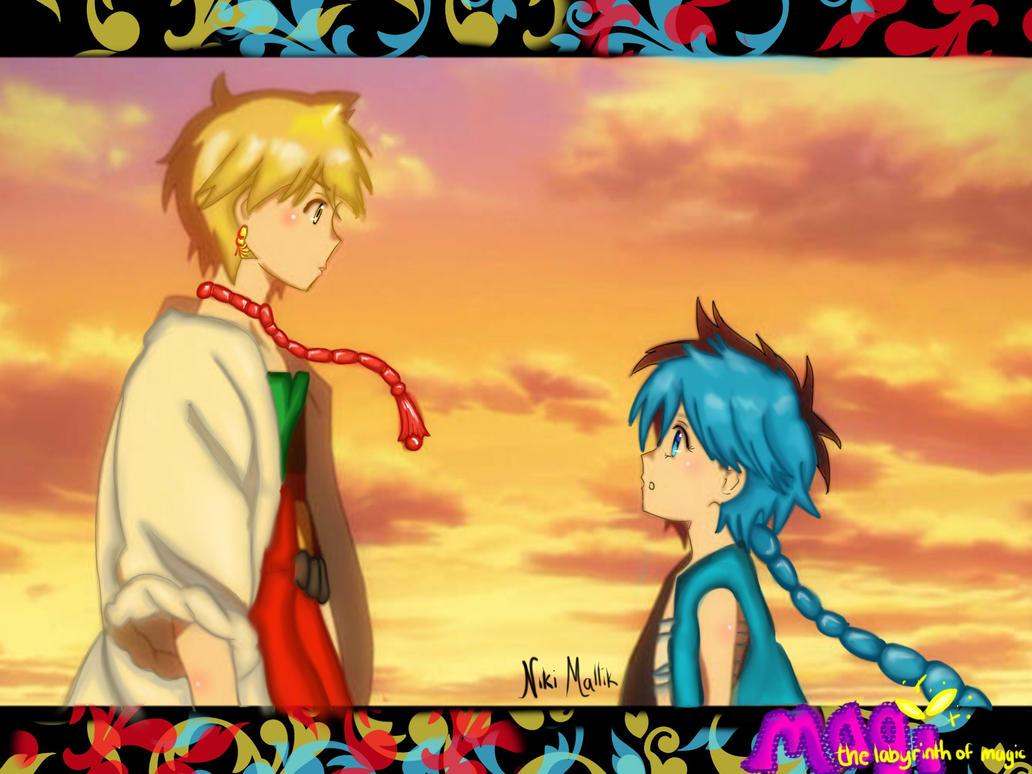 Magi: Aladdin and Alibaba Wallpaper by EmberSkiesUnleashed