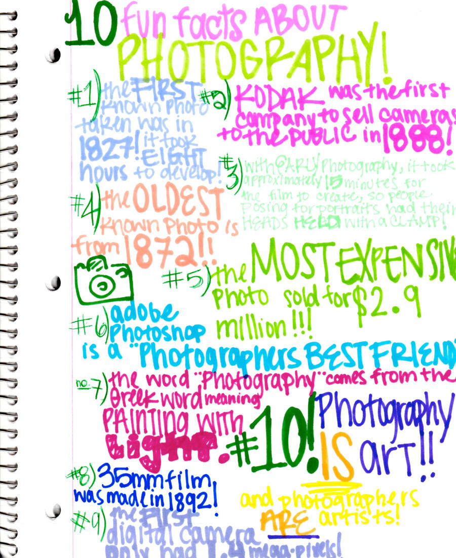10 fun facts bout photography by strummergirl on deviantart