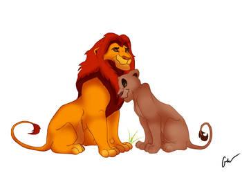 Mufasa and Sarabi's Love by xxStimpsxx54