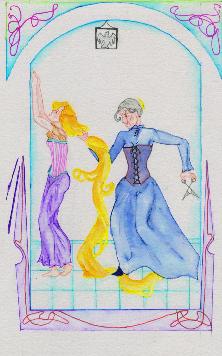 Kay Nielsen Rapunzel by fireburner543