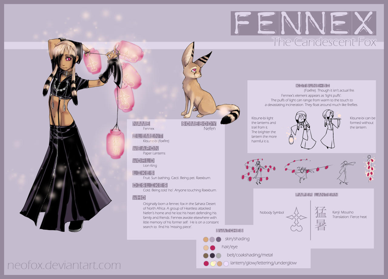 Fennex Character Sheet by neofox