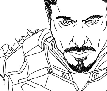 Tony stark by rinzler chan on deviantart for Tony stark coloring pages