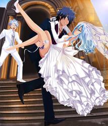 Gray, Juvia and Lyon Wedding by nina2119