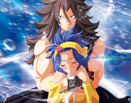 Gajeel and Levy-Cover-47-