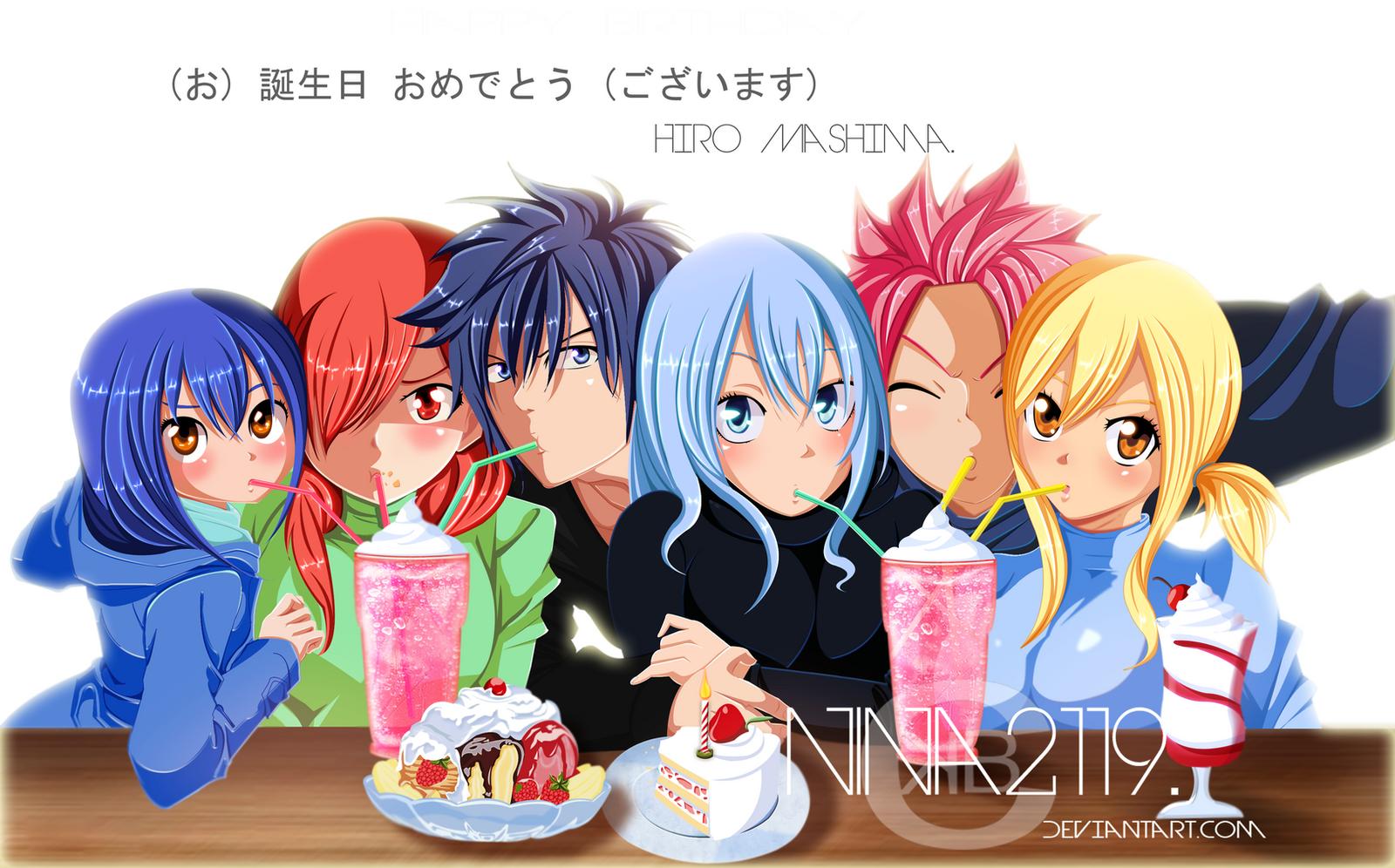 Fairy Tail Anime Birthday Cake