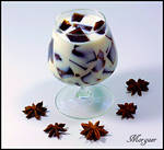 Coffee jelly with milk