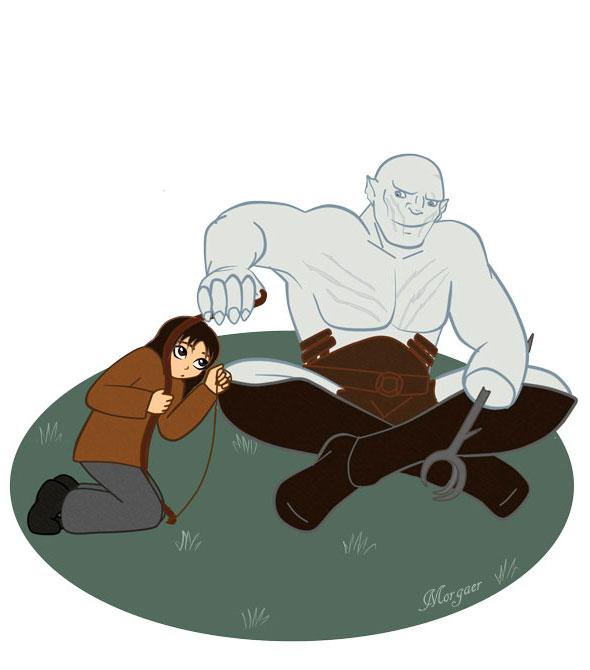 Kili and Azog - Illustration. by Morgaer