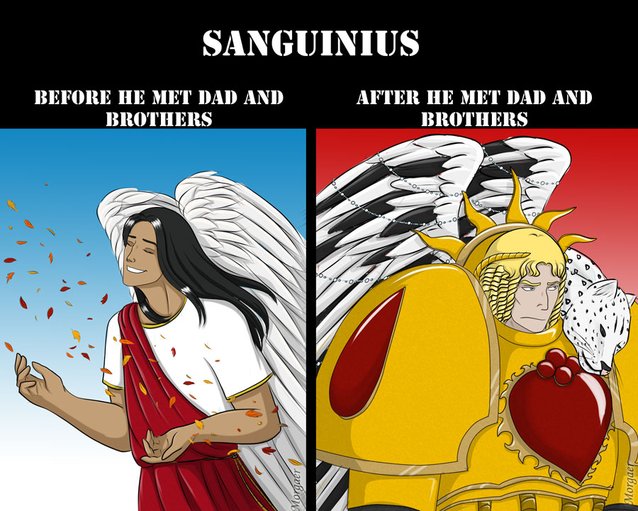 Sanguinius old and new by Morgaer