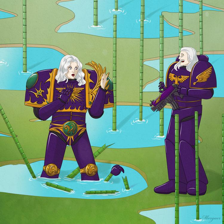 Warhammer-Ranma  crossover by Morgaer