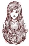 Girl in rose -Sketch-