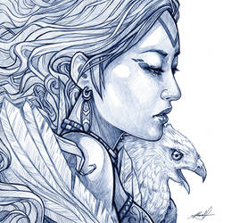 .:: Lady and the Eagle ::. by Takamin