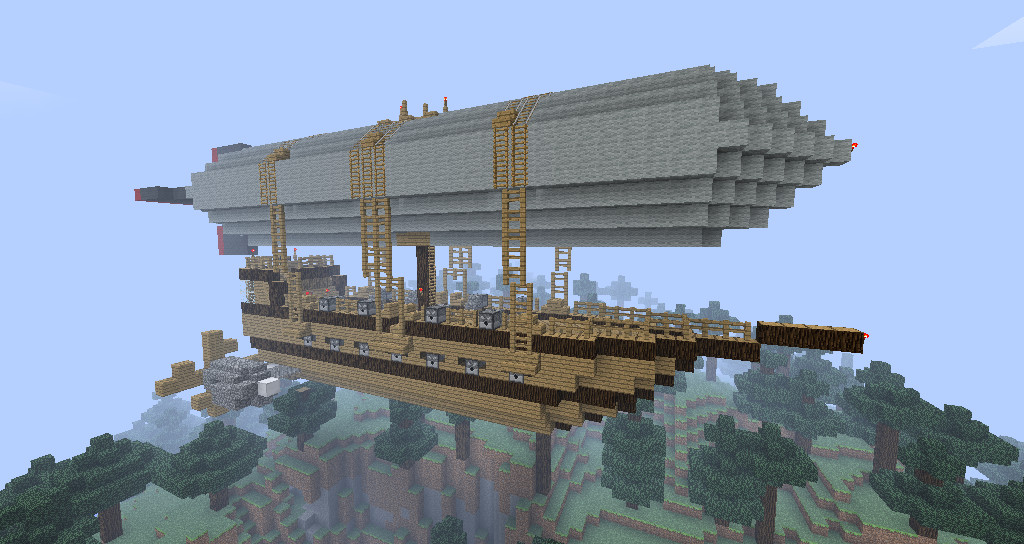 Minecraft Airship by Chris-B-Chikin on DeviantArt