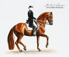 Dressage Horse in Piaffe [S] by AtelierArends