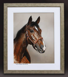 Pastel Portrait-Weltklassiker [D] Framed by AtelierArends