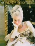 Marie Antoinette (Kirsten Dusnst) - painting