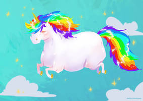 Crazy Unicorn Wallpaper by Sophingers