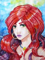 Red mermaid by Sophingers